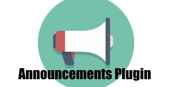Announcement Plugin