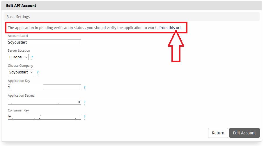 validate and verify ovh app
